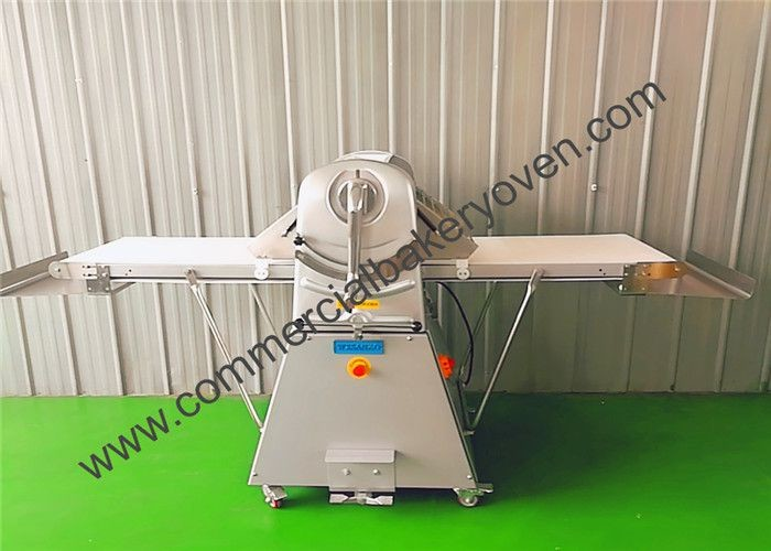 White Electric Bread Dough Sheeter Roller Reversible Two Way Pressing